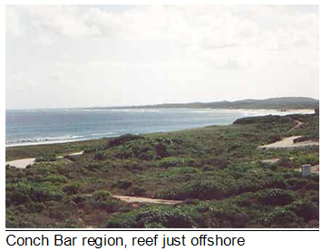 Conch Bar region, reef meets the island  of Mudjin Harbour, Middle Caicos, Turks and Caicos Islands