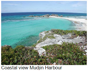 Coastal view of Mudjin Harbour, Middle Caicos, Turks and Caicos Islands